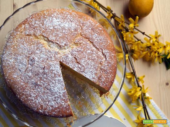 Torta morbida limone e robiola