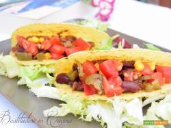 Tacos con carne e fagioli rossi