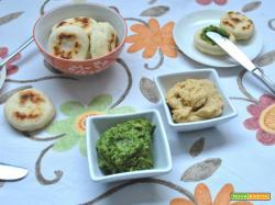 Hummus di ceci e di spinaci