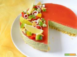 Guacamole cheesecake