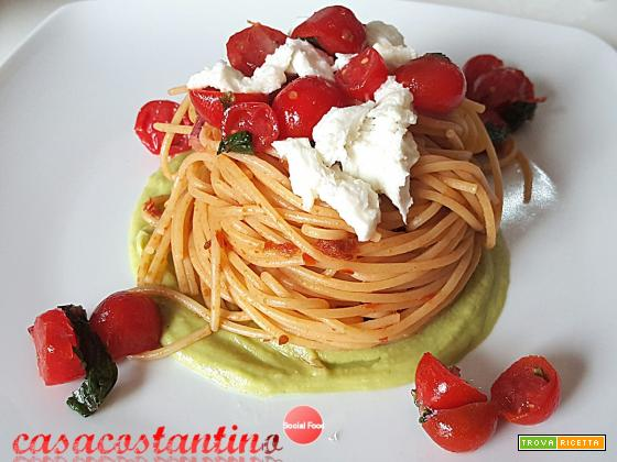 Spaghetti integrali datterino, bufala ed avogado - Oggi cucina...Samanta