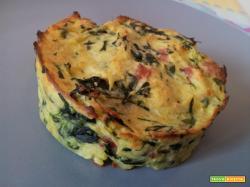 Medaglioni di patate-porro-spinaci