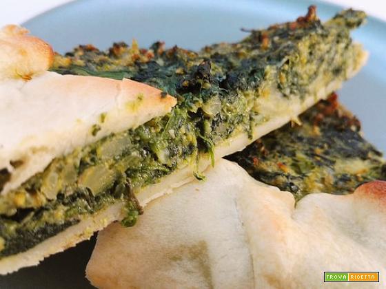 Torta salata di broccoli e spinaci