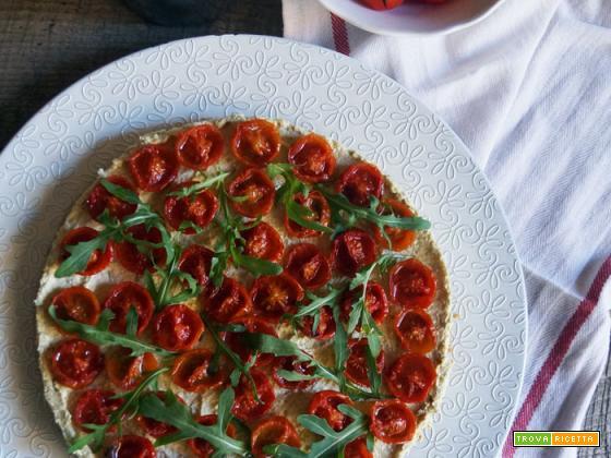 Cheesecake (salata) al pesto e pomodorini confit