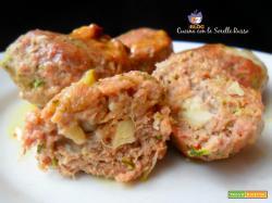 Polpette di carne e zucchine al forno senza uova
