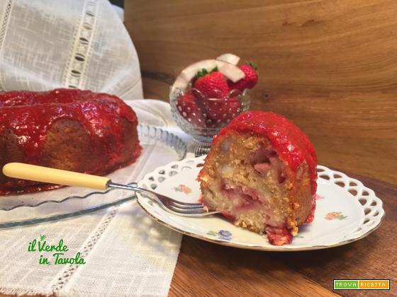 Ciambella vegana fragole e cocco