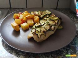 Filetto di merluzzo in crosta di zucchine