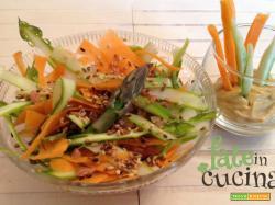 Insalata di Asparagi e Carote - Carpaccio a crudo