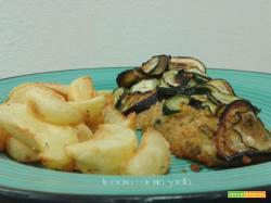 Merluzzo gratinato in crosta di verdure