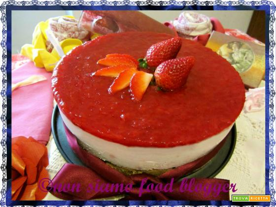 Torta Fredda Yogurt e Fragole