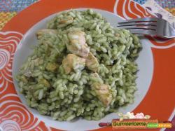 Risotto salmone e spinaci