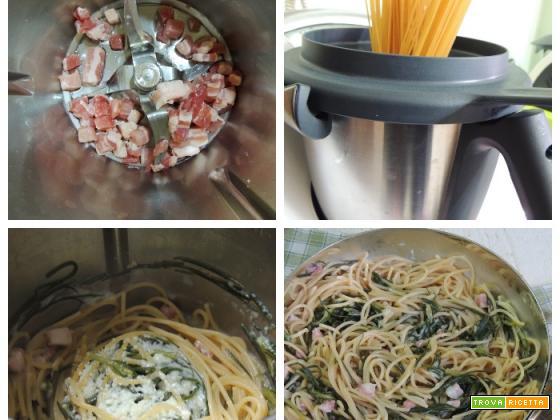 Spaghetti pancetta e agretti col Bimby