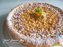 Torta della Nonna alla Crema e Pinoli