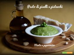 Pesto di piselli e pistacchi