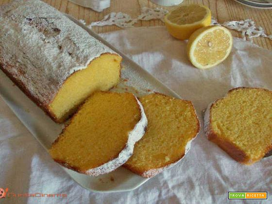 Plumcake soffice limone e panna