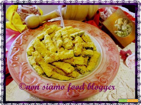 Stick di zucchine saporite al forno (senza uova)