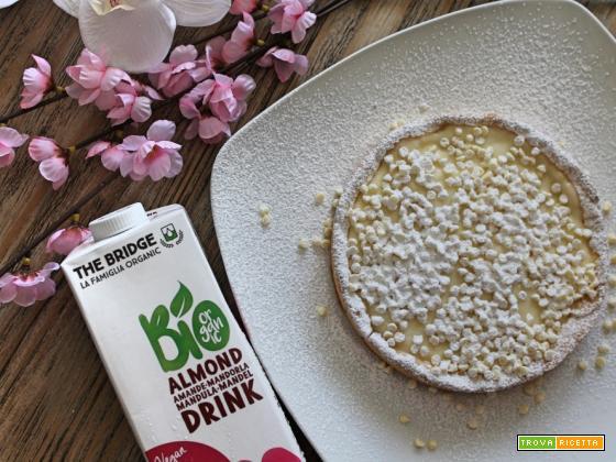 Crostata gluten free alla crema bio almond e cioccolato bianco