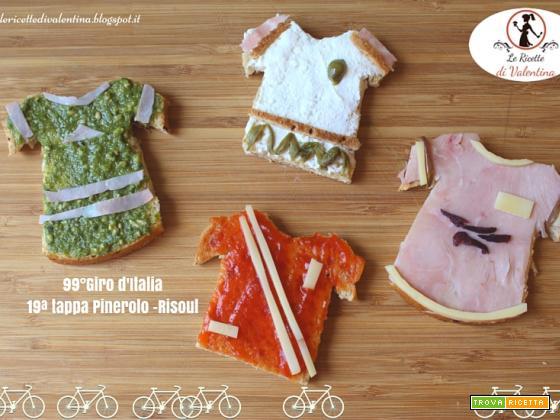 Maglie dei Ciclisti in onore della tappa in Val Varaita del 99° Giro d'Italia