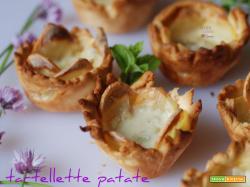 Tartellette patate e gorgonzola, ricetta golosa