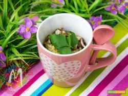 Mug Cake Tirolese speck e champignon