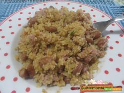 Boulgour salsiccia e fagioli