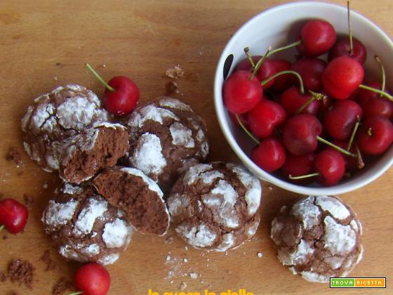 Biscotti cioccolato e ciliegie