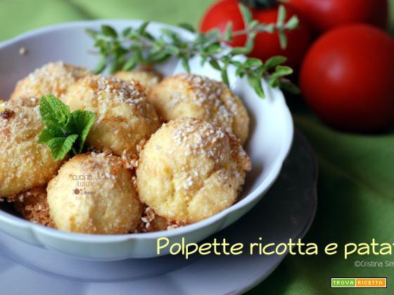 Polpette di patate e ricotta, ricetta facile