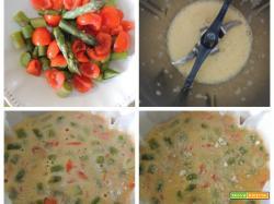 Frittata pomodorini e asparagi col Bimby