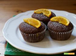 Muffin al cacao con marmellata di arance
