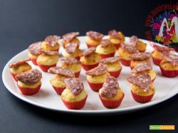 Mini Muffin cacio e pepe con salame Corallina