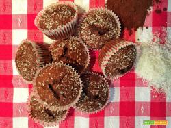 Cupcakes con cacao e cocco