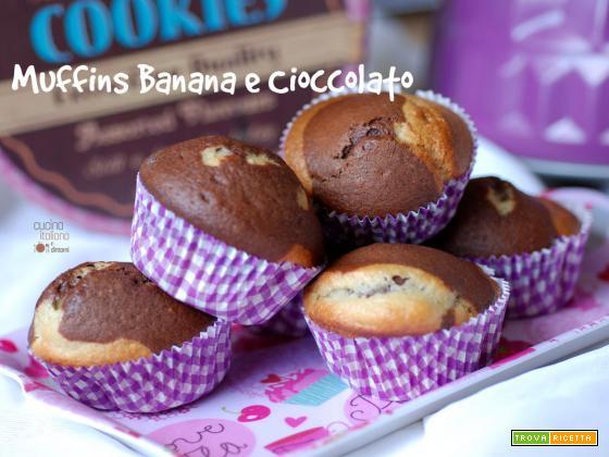 Muffins alla banana e cioccolato
