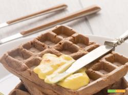 WAFFLES al MANGO SENZA UOVA senza glutine + vegan