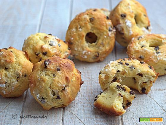 Muffins di ricotta e cioccolato