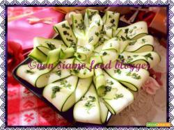 Carpaccio di Zucchine Marinate Crude