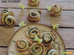 Girelle di sfoglia con zucchine