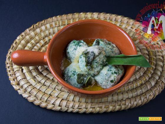 Gli Gnudi di ricotta e spinaci