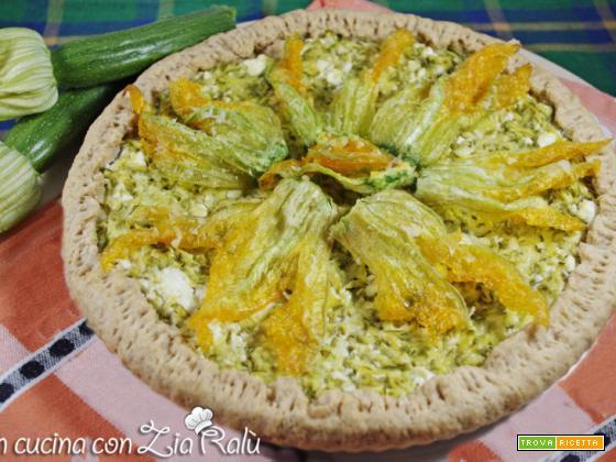 Torta salata zucchine caprini feta menta
