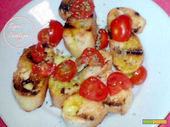 bruschetta pomodoro origano aglio
