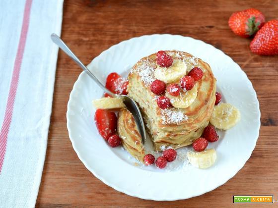 Pancakes di banana e avena