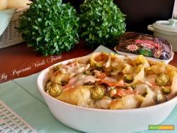 Conchiglioni al forno con stracchino zucchine e salmone