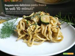 Spaghetti di kamut alle erbe con zucchine e mascarpone