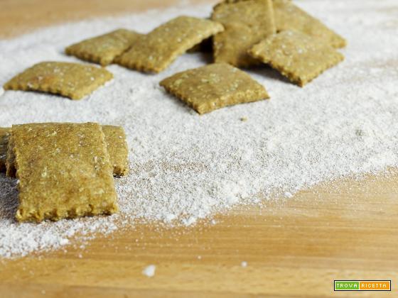 crackers ai piselli e zenzero