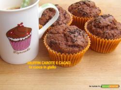 Muffin carote e cacao