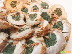 Arrosto di lonza ripieno di spinaci