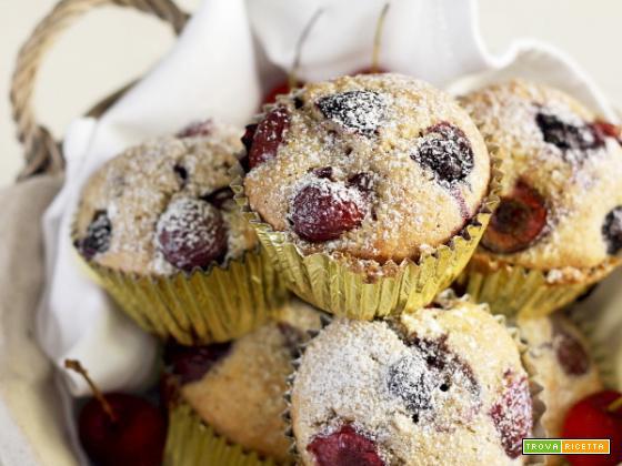 Muffin alle ciliegie e mirtilli: piccole felicità
