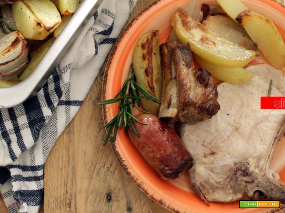 Arrosto misto con patate al forno