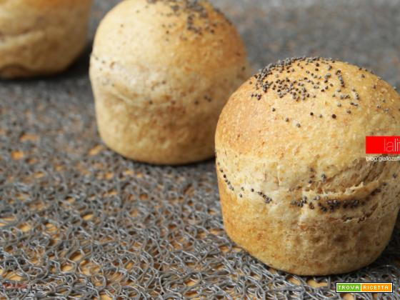 Bocconcini di pane integrale per mini hamburger