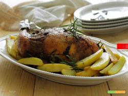 Cappone ripieno al radicchio con patate arrosto