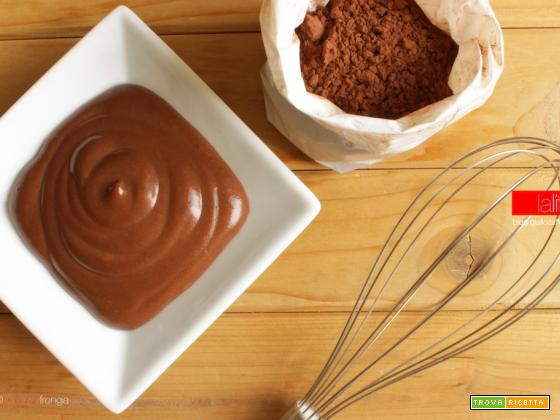 Crema pasticcera al cacao veloce (meno di 5 minuti)